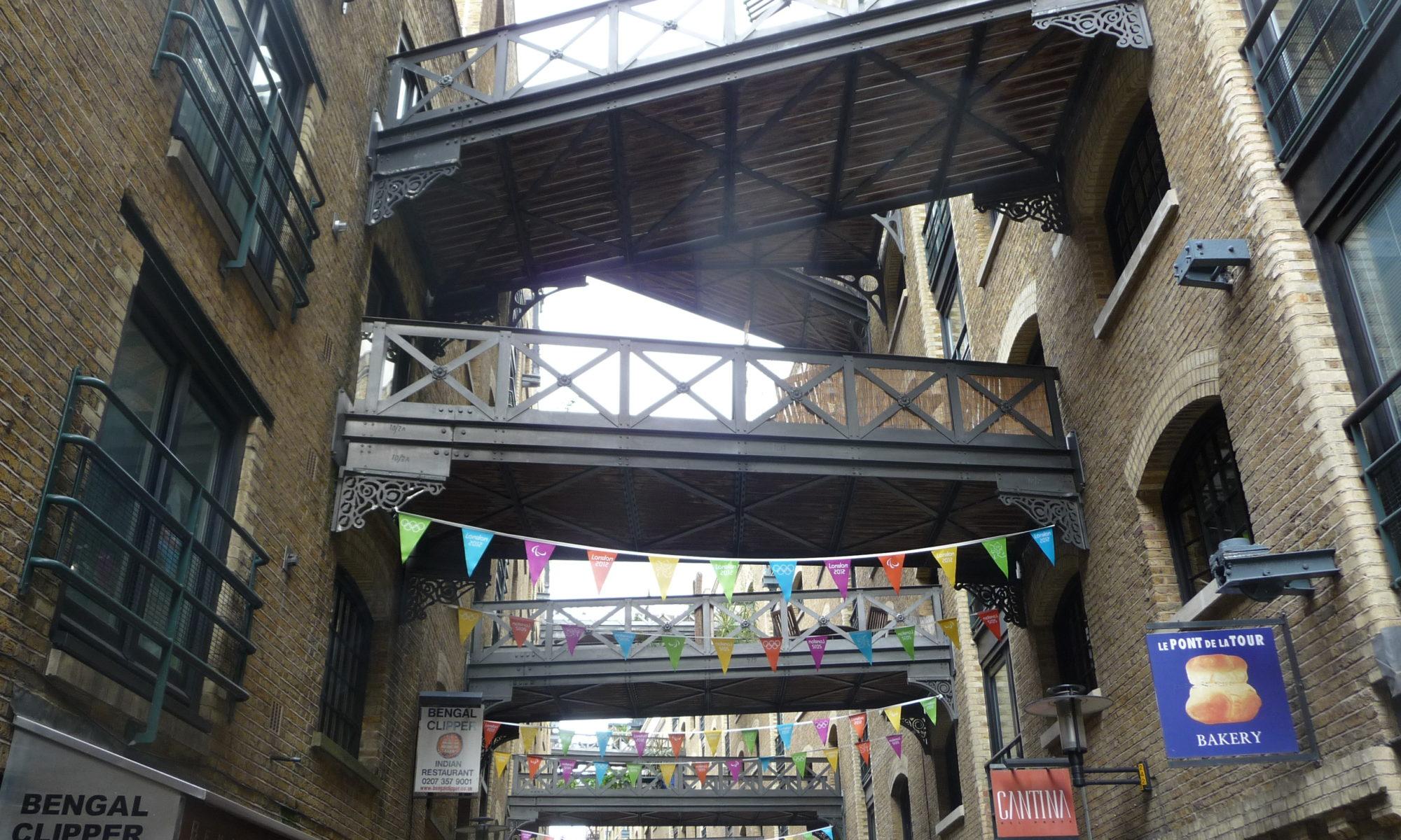 Dockland, passerelles, Londres