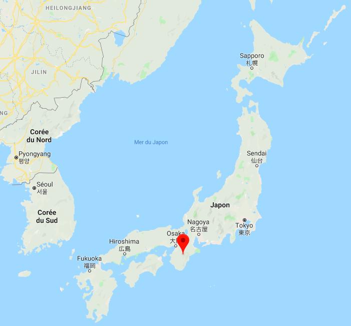 Carte Japon, Peninsule de Kii
