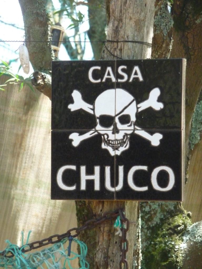 """Panneau pirate """"Casa Chuco"""""""