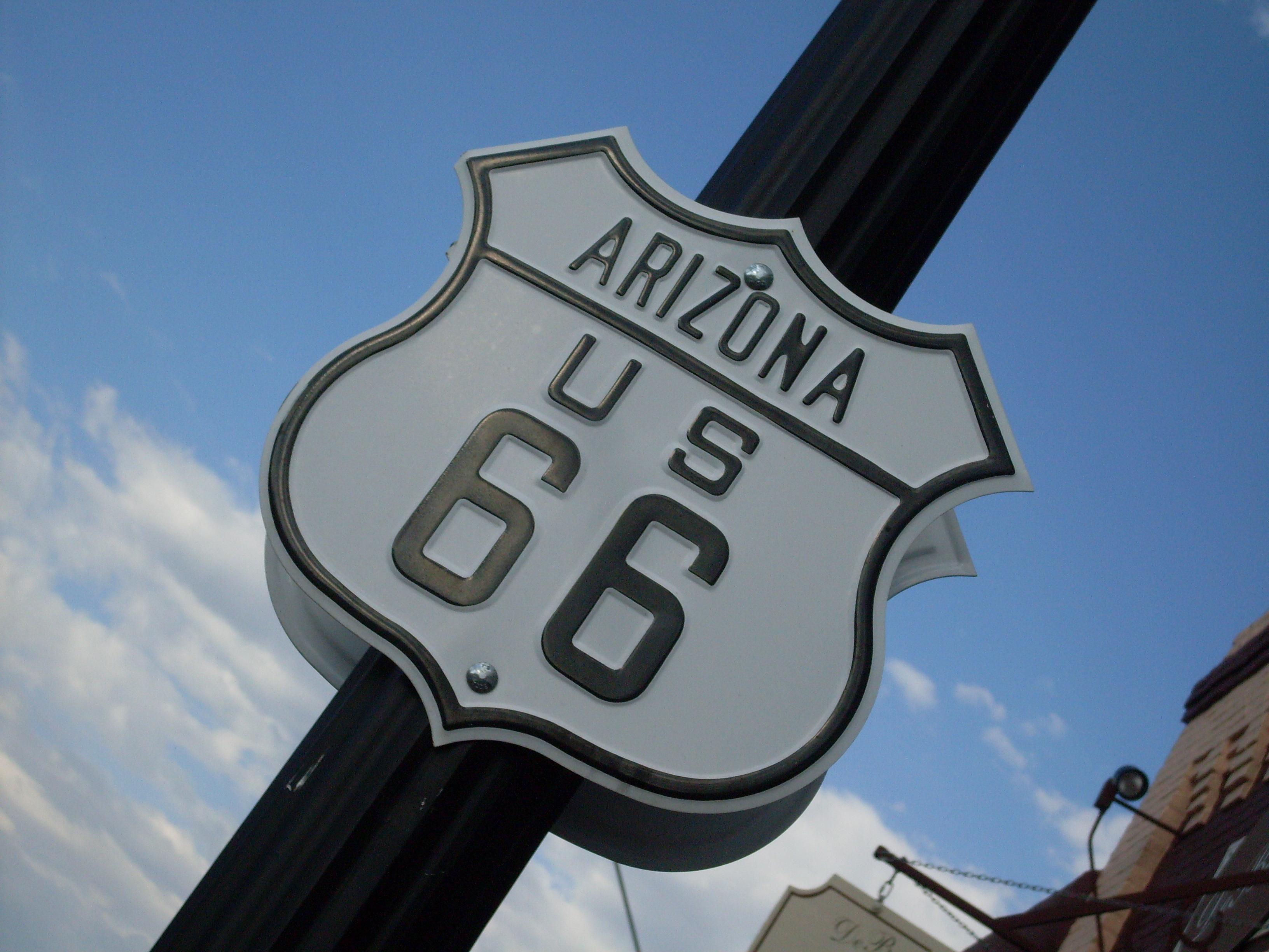 Panneau route 66, Arizona, Etats-Unis