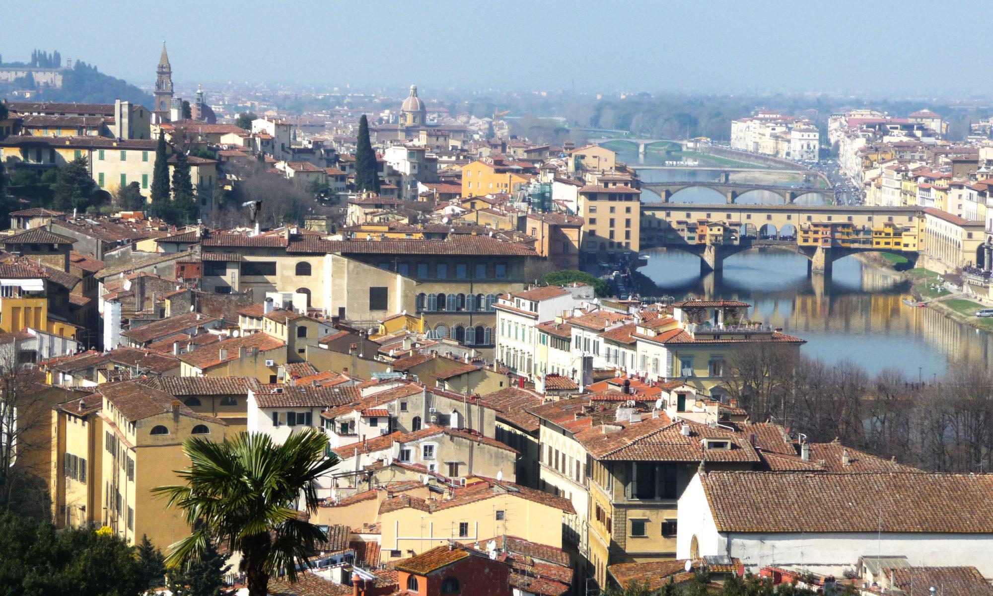 Vue du quartier Oltrarno, Florence, Italie