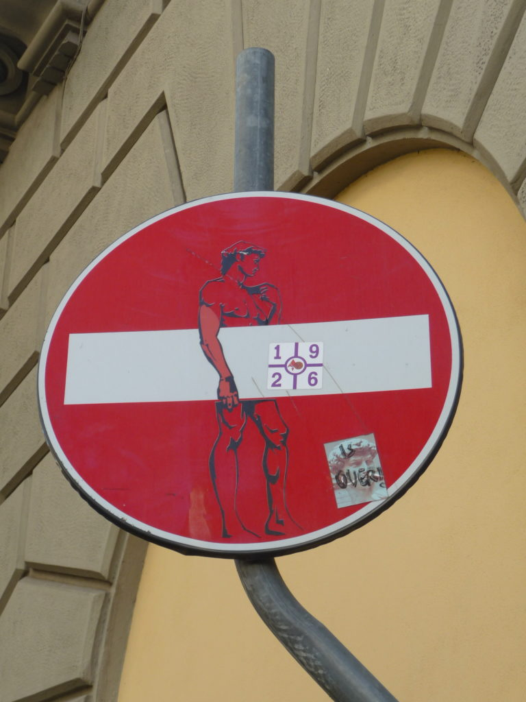 Street-art, Clet Abraham, Florence, Italie