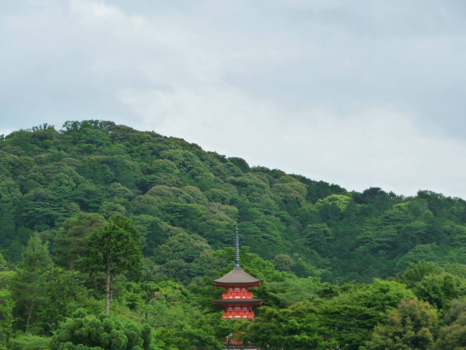 Kyoto, pagode, Kiyomizudera temple