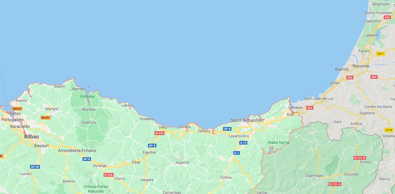 Carte Pays Basque Espagnol