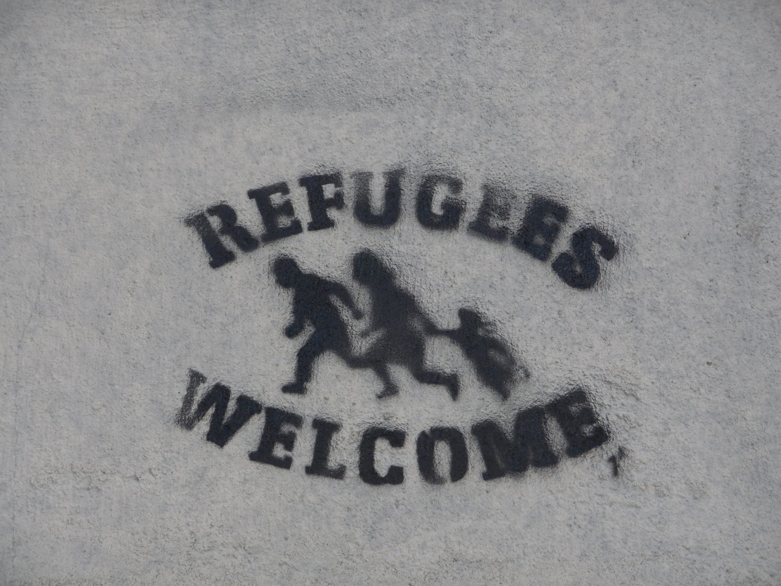 Pochoir Refugees welcome