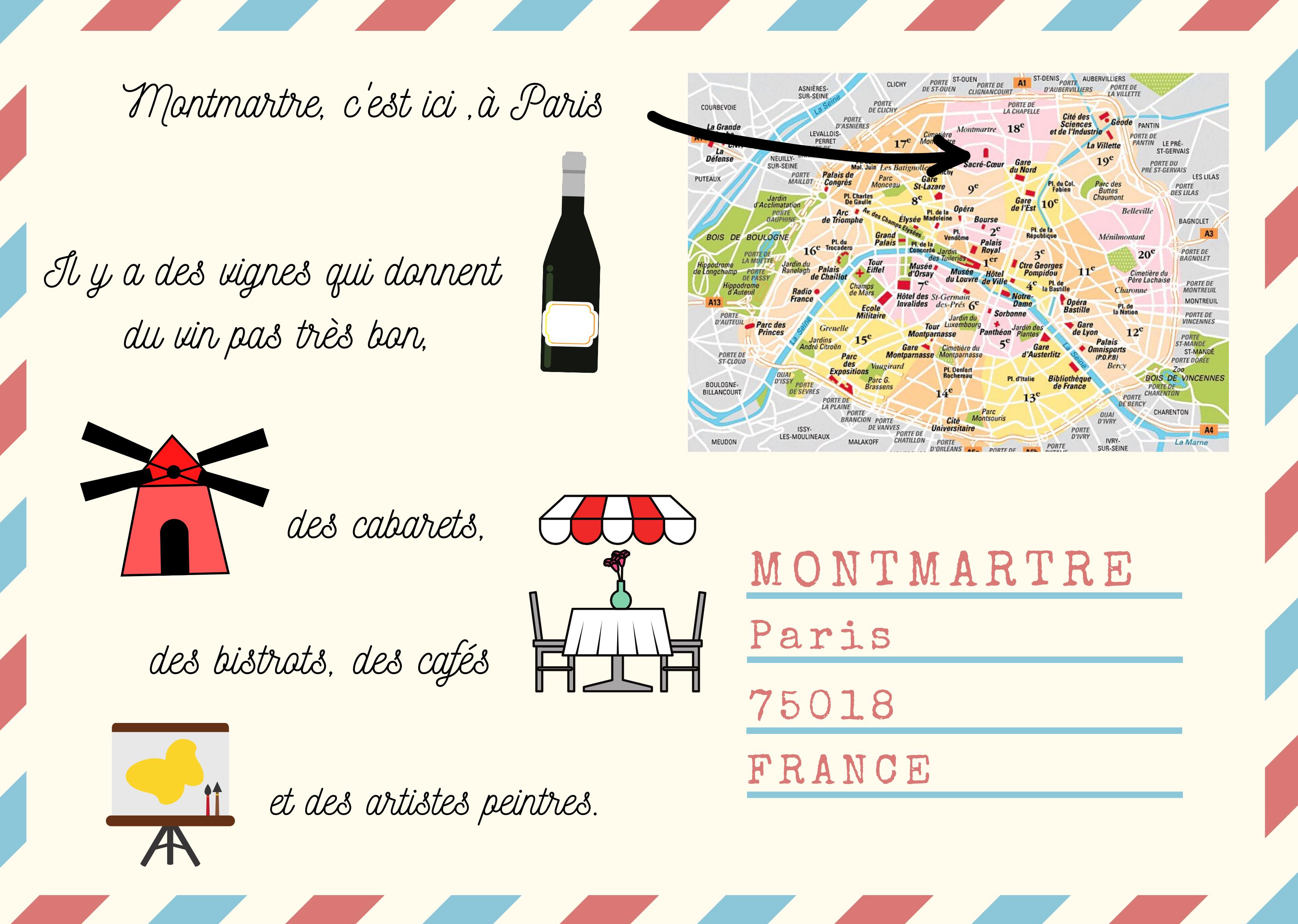 Carte postale, Montmartre, Paris